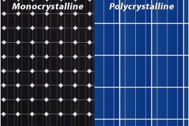 difference between mono-crystalline and poly-crystalline photovoltaic cells